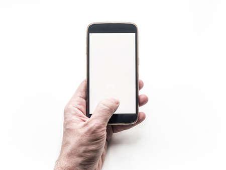 Weiß Visitenkarte Mit Smartphone Mockup Lizenzfreie Fotos