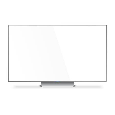 tv screen: Flat Smart TV Mockup with white blank screen