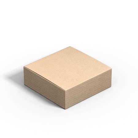 Closed small square Cardboard box