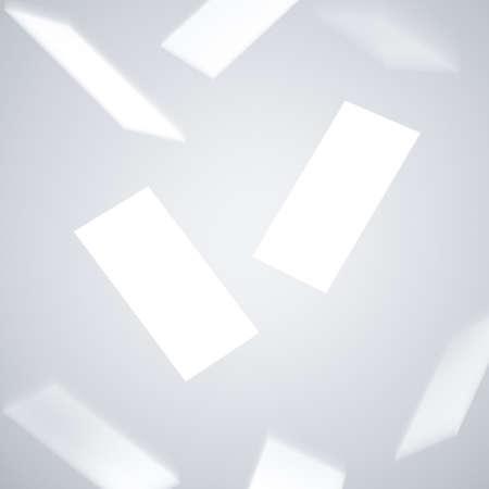 Flying Business Cards on Gray background Reklamní fotografie