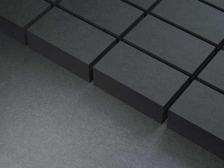 Stacks of cardboard Black Business cards Reklamní fotografie