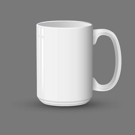 Realistic White Mug mockup vector illustration Ilustracja