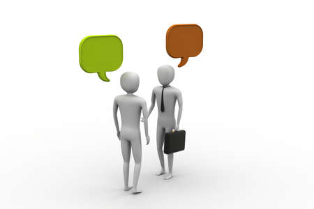 3d people and speech bubbles photo