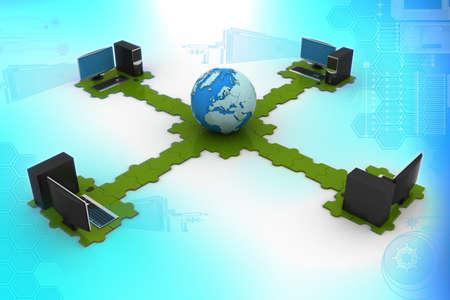 Global computer networking photo
