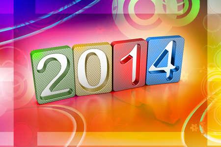 next year: New year 2014 Stock Photo