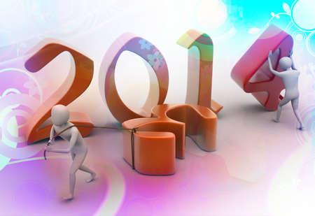 New 2014 year background  Stock Photo