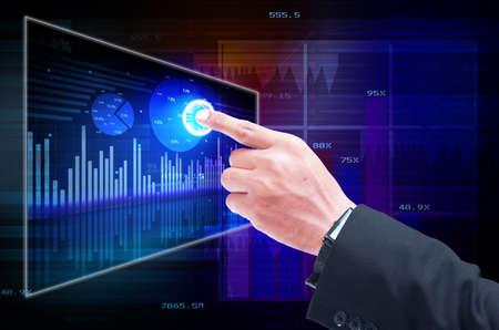 Businessman analyzing development opportunities
