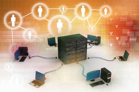 Computer-Netzwerke Standard-Bild - 24297509