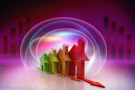 3d, Energy efficiency concept Banco de Imagens