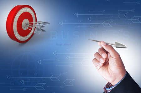 restraining: Smart hand with target arrow