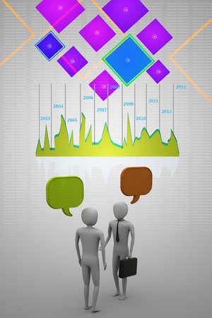 deux personnes qui parlent: Deux personnes qui parlent, le concept de communication