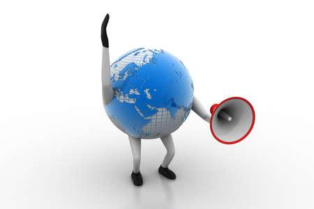 speaking trumpet: Globe with loudspeaker