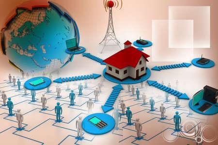Smart home concept Stock Photo