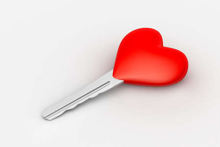 Heart shaped key photo