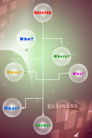 Question chart Stock Photo - 25775226