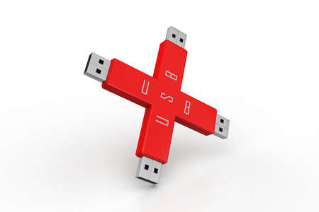 Portable usb drive memory connected photo