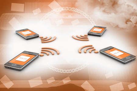 wireless technology: Smart phone and wireless technology  Wireless concept