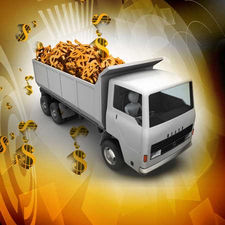 amount: Truck with Dollar money