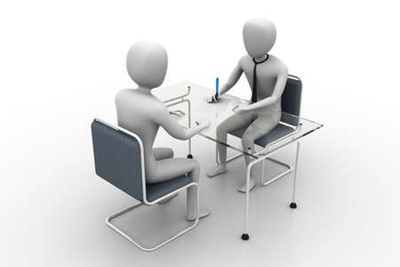 Business people in discussion
