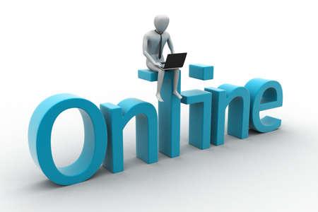 Online job concept photo