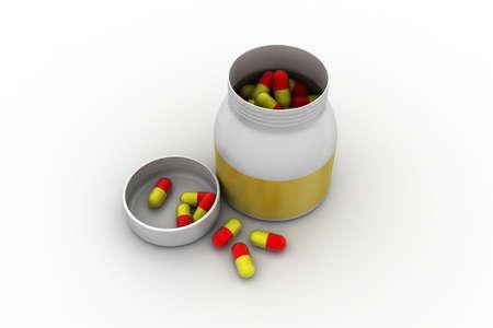 Capsule in bottle photo