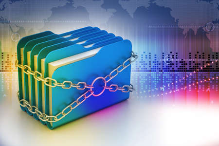 folder locked by chains photo