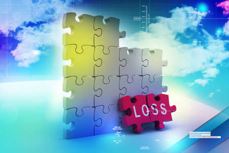 vision loss: Loss in puzzle piece