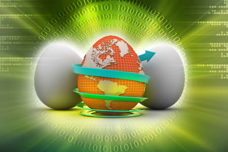 Global egg rounded with arrow photo
