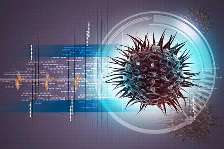 retrovirus: virus 3d image