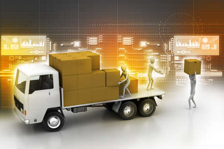 forwarding agency: Transportation trucks in freight delivery