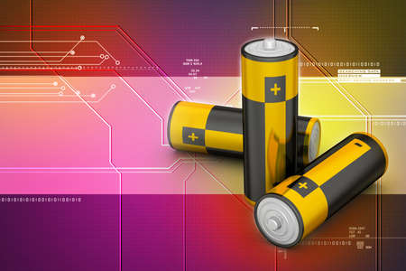 Batteries in  background Stock Photo - 29551457