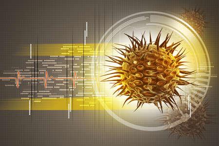 epidemiology: virus 3d image