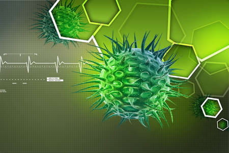 Virus 3D-Bild Standard-Bild - 29551328