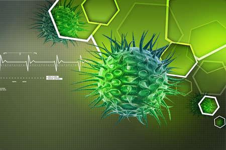 immune system: virus 3d image