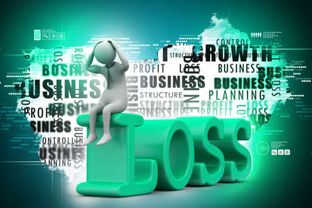 tough times: Business man in loss