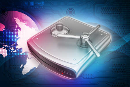 external hard disk drive: Secure Hard drive Stock Photo