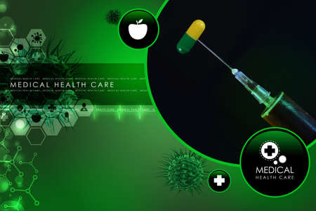 ampoules: syringe and medicine Stock Photo