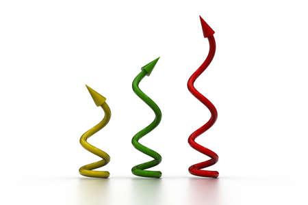 flechas curvas: Espirales y curvas flechas
