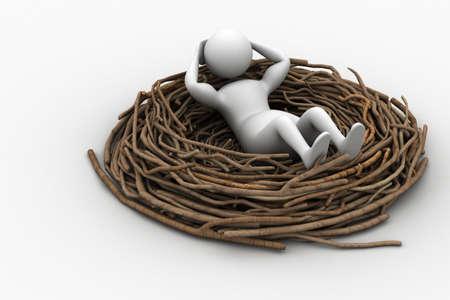 prowler: Man resting on the bird nest
