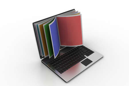 Online reading concept Stock Photo