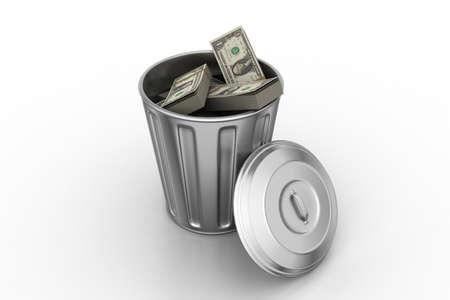 inflation basket: El dinero en basurero