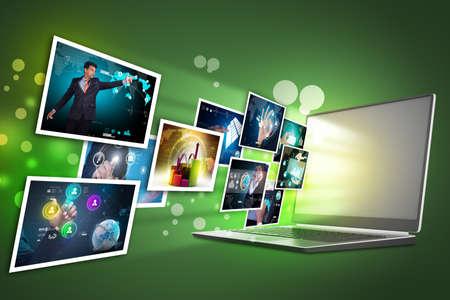 Futuristic touch screen display Reklamní fotografie - 32653125