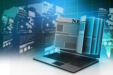 CRan d'ordinateur montrant dernières nouvelles en ligne Banque d'images - 32653323