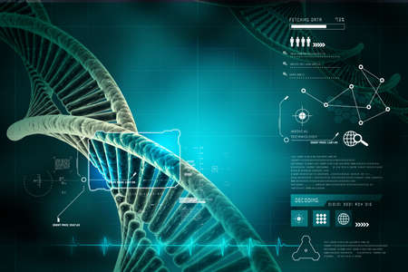 model of twisted DNA chain Stock Photo