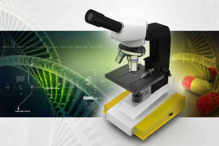 microscope on abstract background photo