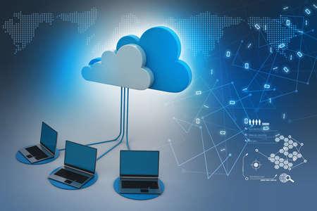 概念雲計算設備 版權商用圖片