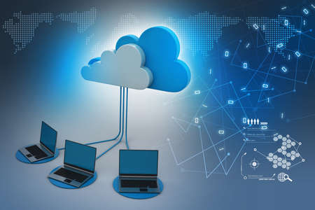 backups: Concepts cloud computing devices Stock Photo