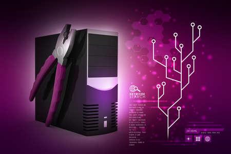 computer repair service concept photo
