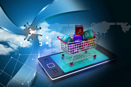 Internet and Online Shopping Concept Stock Photo