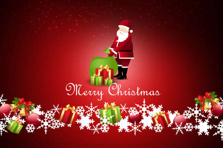 santaclaus: Christmas  gift box with santaclaus Stock Photo